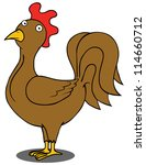 represent a brown rooster. | Shutterstock .eps vector #114660712