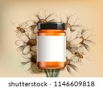 top view of wildflower honey... | Shutterstock .eps vector #1146609818