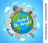 around the world landmark scene ... | Shutterstock .eps vector #1146610298