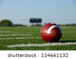 american football on the field... | Shutterstock . vector #114661132