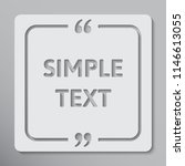 vector square speech bubble... | Shutterstock .eps vector #1146613055