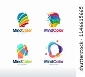 collection of colorful head... | Shutterstock .eps vector #1146615665