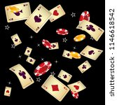 casino playing cards and chips... | Shutterstock .eps vector #1146618542