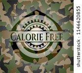 calorie free camouflaged emblem | Shutterstock .eps vector #1146620855
