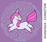 cute cartoon unicorn in vector | Shutterstock .eps vector #1146627248