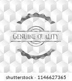 genuine quality grey emblem... | Shutterstock .eps vector #1146627365