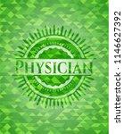 physician green emblem. mosaic... | Shutterstock .eps vector #1146627392