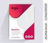 flyer design. business brochure ... | Shutterstock .eps vector #1146630035