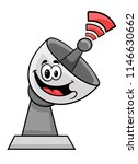 the satellite dish transmits a... | Shutterstock .eps vector #1146630662