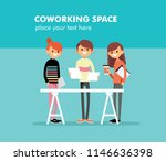 group of creative young people... | Shutterstock .eps vector #1146636398