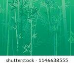 illustration of bamboo trees ... | Shutterstock .eps vector #1146638555