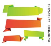 origami sale web banner... | Shutterstock .eps vector #1146642848