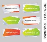 modern simple sale web banners... | Shutterstock .eps vector #1146642902