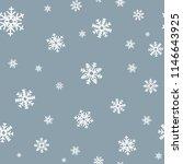snowflake seamless pattern.... | Shutterstock .eps vector #1146643925