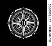 vintage compass logo | Shutterstock .eps vector #1146660002