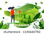 vector illustration    tourist... | Shutterstock .eps vector #1146660782