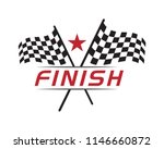 race flag icon  simple design... | Shutterstock .eps vector #1146660872