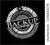 backup chalk emblem written on... | Shutterstock .eps vector #1146663278