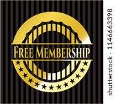 free membership golden badge or ... | Shutterstock .eps vector #1146663398