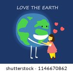 love the earth concept. save... | Shutterstock .eps vector #1146670862