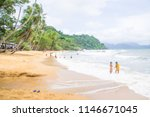blurred of people travel and... | Shutterstock . vector #1146671045