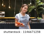 beautiful waitress. beautiful... | Shutterstock . vector #1146671258