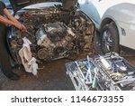 engine valve car maintenance.... | Shutterstock . vector #1146673355