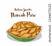 traditional indian snacks namak ... | Shutterstock .eps vector #1146675125
