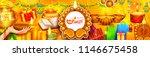 illustration of burning diya on ... | Shutterstock .eps vector #1146675458
