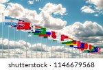 g20 flag summit silk waving... | Shutterstock . vector #1146679568