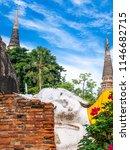 buddha statue in wat yai...   Shutterstock . vector #1146682715