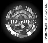 training grey camo emblem | Shutterstock .eps vector #1146692132