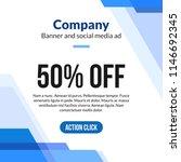 web banner ad promo blue... | Shutterstock .eps vector #1146692345