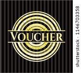 voucher gold shiny emblem   Shutterstock .eps vector #1146703358
