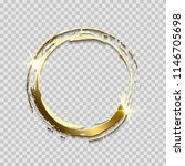 sparkling golden ring frame... | Shutterstock .eps vector #1146705698