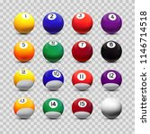 assorted billiard balls... | Shutterstock .eps vector #1146714518