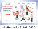 3d infographic business data... | Shutterstock .eps vector #1146715412