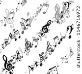 lines of musical notes. modern... | Shutterstock .eps vector #1146716972