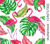 tropical floral summer... | Shutterstock . vector #1146717332