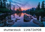 lake in the mountains  sunset ... | Shutterstock . vector #1146726908
