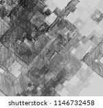 contemporary art. hand made art.... | Shutterstock . vector #1146732458