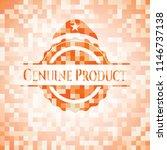 genuine product orange mosaic... | Shutterstock .eps vector #1146737138