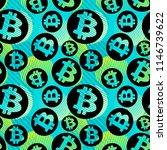 bitcoin crypto trade seamless... | Shutterstock .eps vector #1146739622