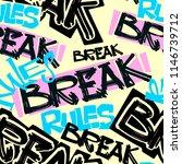 hipster funky t shirt girls... | Shutterstock .eps vector #1146739712