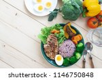 flat lay of healthy and beauty...   Shutterstock . vector #1146750848