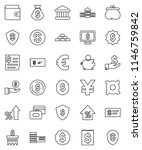 thin line vector icon set  ... | Shutterstock .eps vector #1146759842