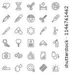 thin line vector icon set  ... | Shutterstock .eps vector #1146761462