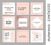 9 square layout templates for... | Shutterstock .eps vector #1146762152