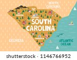 illustrated map of the state of ...   Shutterstock .eps vector #1146766952