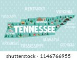 illustrated map of the state of ...   Shutterstock .eps vector #1146766955